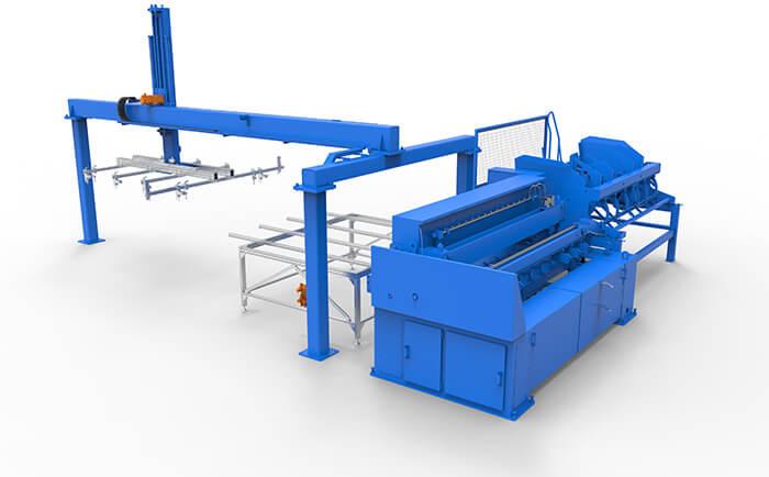 双丝护栏网焊接生产线